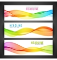 Abstract colourful wave isolated on white vector image vector image