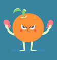 Angry Orange Tearing a Heart Apart vector image vector image