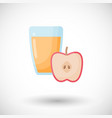 apple juice flat icon vector image vector image