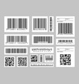 barcode labels vector image