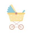 bashower pram carryage newborn isolated icon vector image vector image