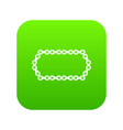 bicycle chain icon digital green vector image vector image