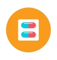Blister packs pills icon medical drugs cartoon vector image