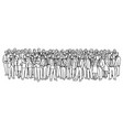 businessmen and businesswomen standing together vector image vector image