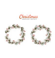 christmas wreath watercolour hand painting vector image vector image