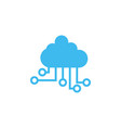 cloud electronic circuit icon deisgn template vector image vector image