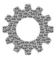 cogwheel mosaic of eye icons vector image vector image
