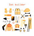 collection elements for building and repair vector image vector image