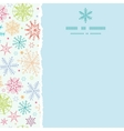 Colorful Doodle Snowflakes Square Torn Frame vector image vector image
