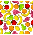 Colorful tropical fruits seamless pattern vector image vector image