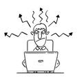 comic cartoon angry businessman or man or vector image