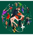 Couple dancing Kizomba in bright costumes vector image vector image
