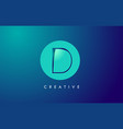 d letter logo icon design with paper cut creative vector image vector image