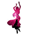 double exposure silhouette woman with wolf vector image