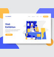exhibition concept vector image
