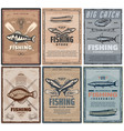 fishing store or fisher sport tours vector image vector image