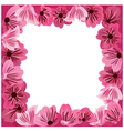 Flowers frame floral background