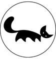 funny cartoon cat print vector image vector image