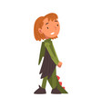 girl wearing dragon carnival costume cute kid vector image vector image