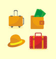 going travel icon set vector image vector image