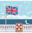 great britain coast vector image vector image