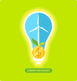 Green energy vector image vector image