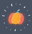 halloween pumpkin on dark background vector image vector image