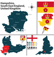 Hampshire South East England vector image vector image