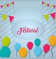 happy festival card vector image vector image