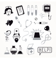 Health care and medicine icon set vector image vector image