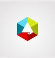 hexagon chat logo with modern concept and vector image vector image