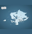 isometric 3d europe map concept vector image