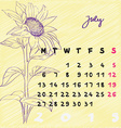 july 2015 flowers vector image vector image