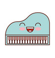 kawaii piano music instrument classic cartoon vector image vector image