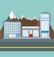 landscape with city buildings vector image vector image