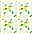 lemon seamless pattern lemons cocktail citrus vector image vector image