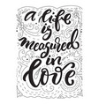 lettering love theme vector image vector image
