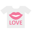 love concept isolated icon editable vector image vector image