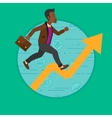 Man running on growth graph vector image vector image