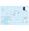map azores portugal vector image vector image