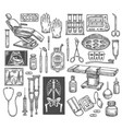 medical therapy surgery sketch equipment vector image vector image