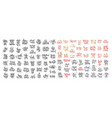 mega set of 100 hand lettering inscription to vector image