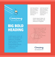 mouse business company poster template with place vector image vector image