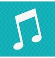 musical icon design vector image
