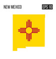 new mexico map border with flag eps10 vector image