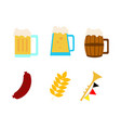 oktoberfest items simple vector image