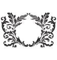 ornament baroque vector image