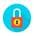 padlock secure flat circle icon vector image