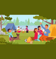 people in camping travel family person vector image