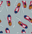 pictures of colored sneakers vector image vector image